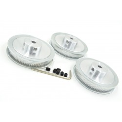 Polea dentada GT2 80 dientes 6.35mm