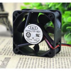 Ventilador de ensamble 12V de 5x5x2,5cm