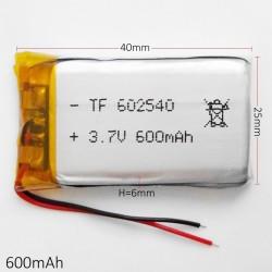 Bateria LI-PO 3.7V 600mAh