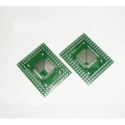 Adaptador TQFP 0.8mm - TQFP 0.5mm a DIP