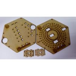 Lamina en MDF para Plataforma Robotica