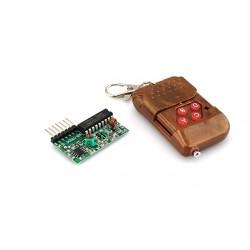 Control de 4 teclas con receptor 315Mhz