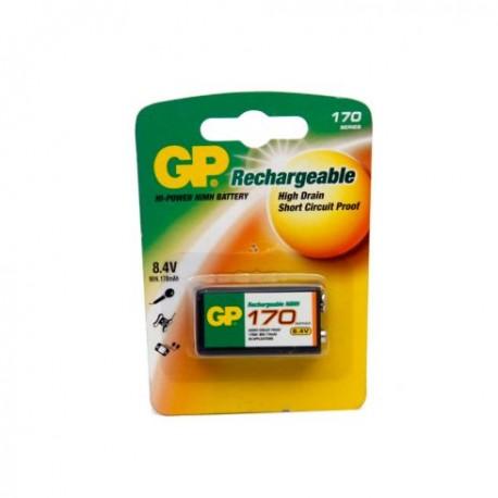 Pila 9V recargable GP