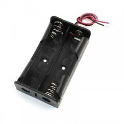 Porta pila para batería 18650 x2
