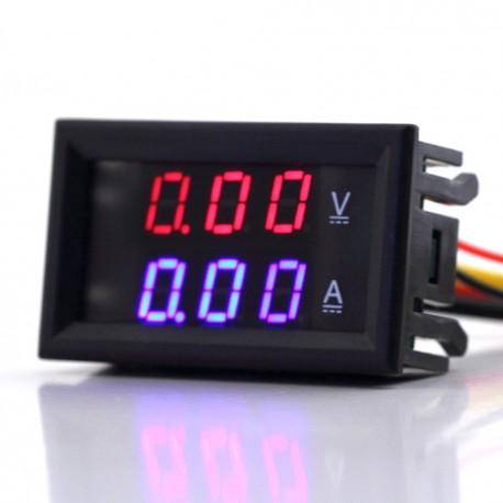 Voltimetro y amperimetro digital