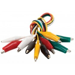 Cables con caimanes x 5pcs
